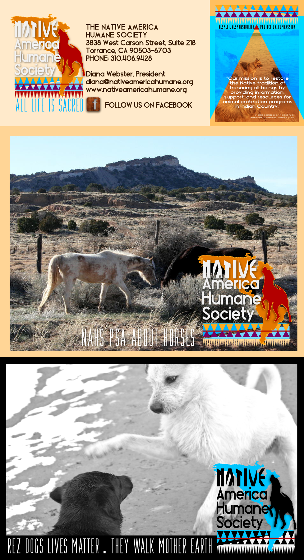 Logo Brand Print And Social Media Design For Native America Humane Society California Sample Photo Of Rez Puppies B Humane Society Native America Society