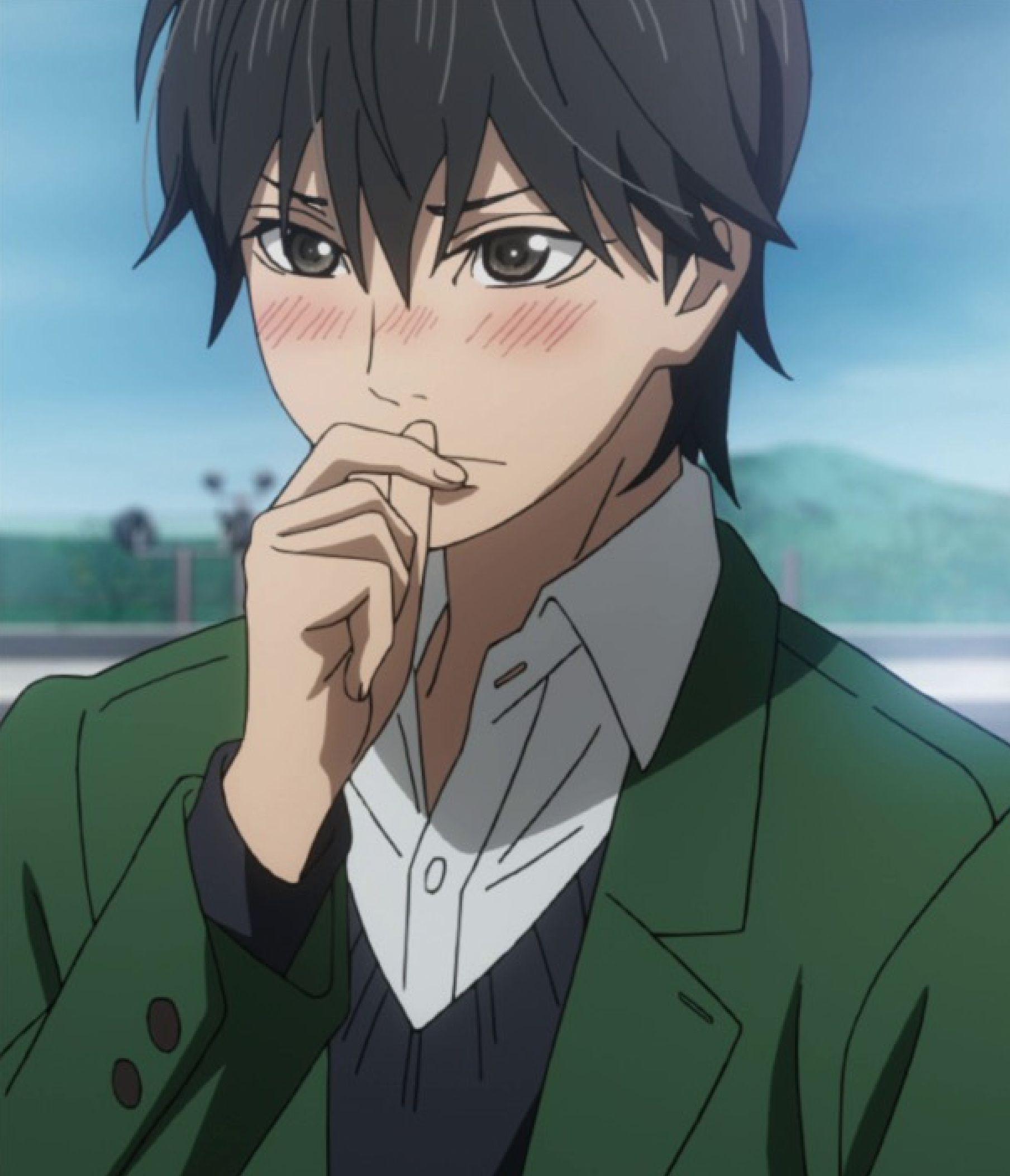 Orange kakeru anime angry boy blushing bush shy embarassing cute