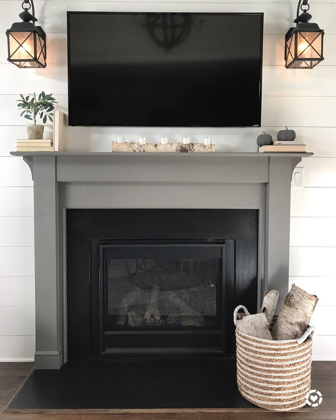 Fireplace Is Sherwin Williams Gauntlet Gray Painted Fireplace