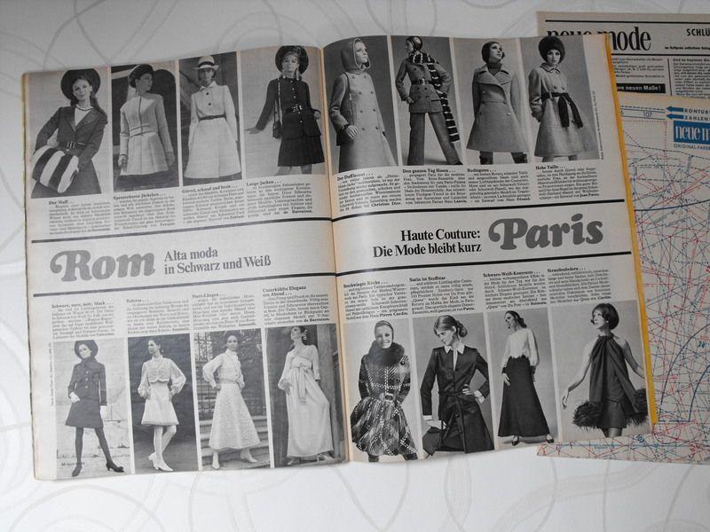 """Vintage Zeitungen - Modezeitschrift """"neue mode"""" November 1968 - ein Designerstück von frl-langstrumpf bei DaWanda"""