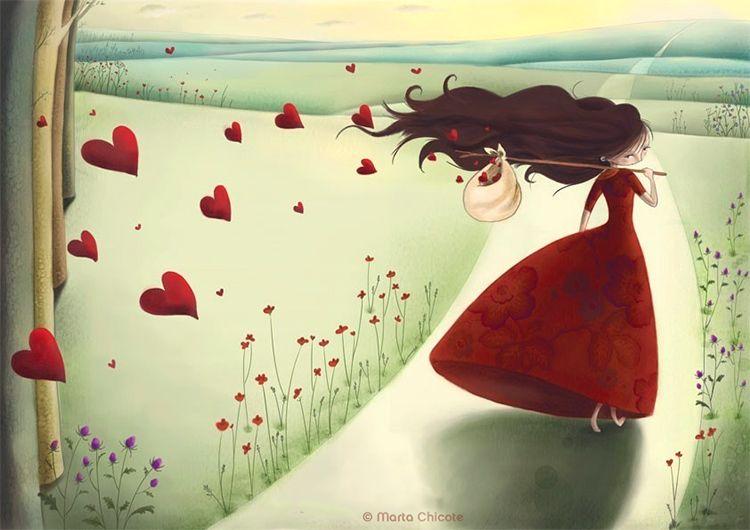 Люблю людей в прекрасном настроении,Когда в глазах смеётся доброта,А в  сердце — то незримое свечение,То синевы просто… | Причудливое искусство,  Иллюстратор, Рисунки