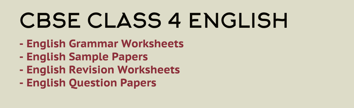 Class 4 English NCERT based Grammar Worksheets  Download