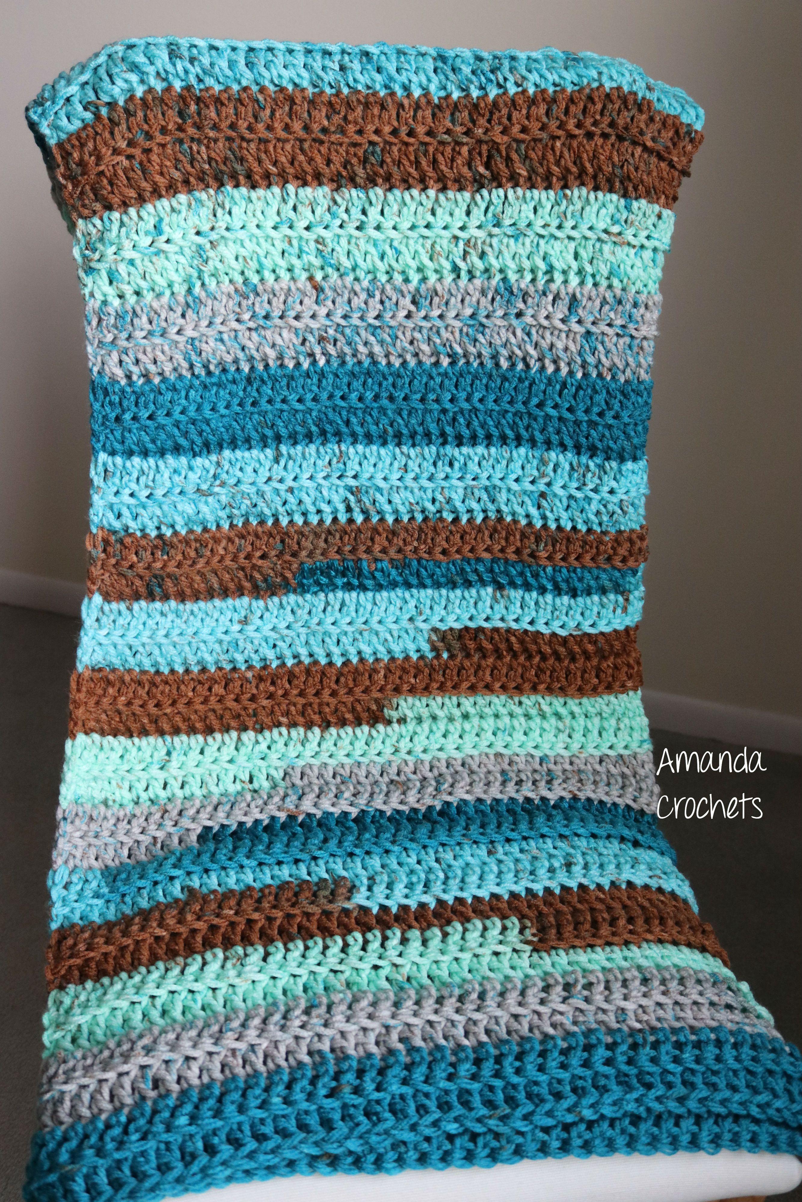 Crochet Baby Blanket | Baby Boy Blanket | Chunky Blanket | Baby ...