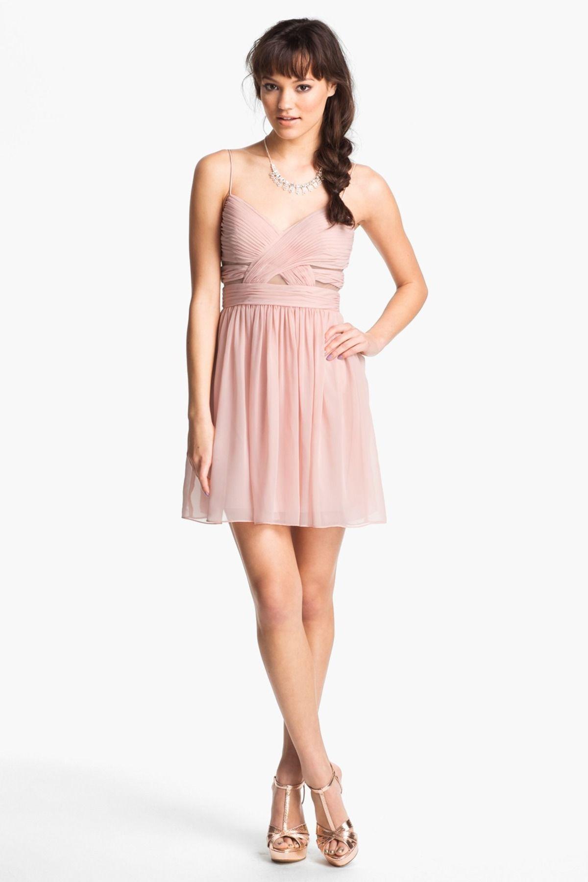Cutout Chiffon Dress (Juniors) | Chiffon dress, Nordstrom and Formal