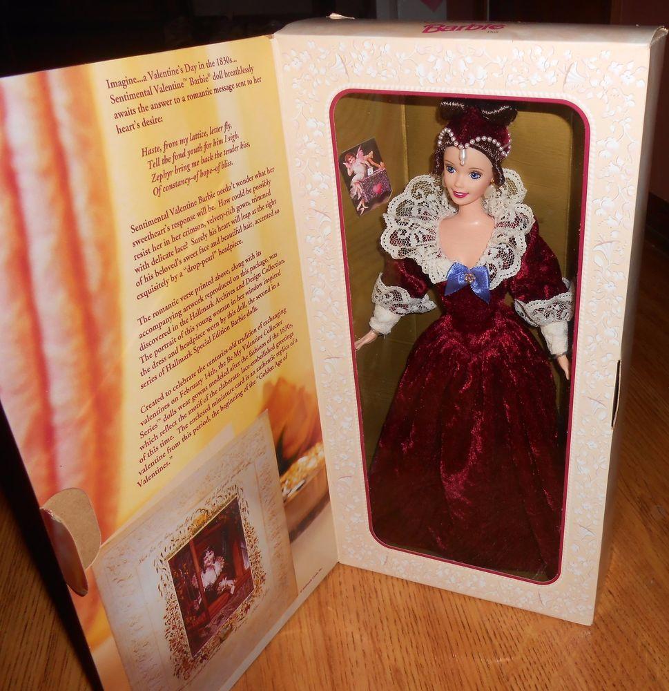 Vintage mattel sentimental valentine barbie nrfb hallmark