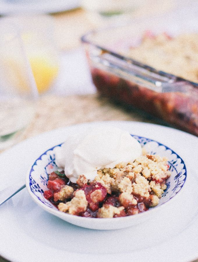 Cozy Risotto & Spring Crumble