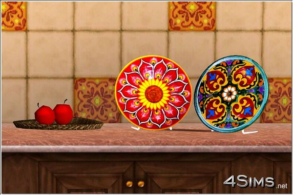 Mexican decorative plates for Sims 3 by 4Sims & Mexican decorative plates for Sims 3 by 4Sims   Sims 3 Downloads ...