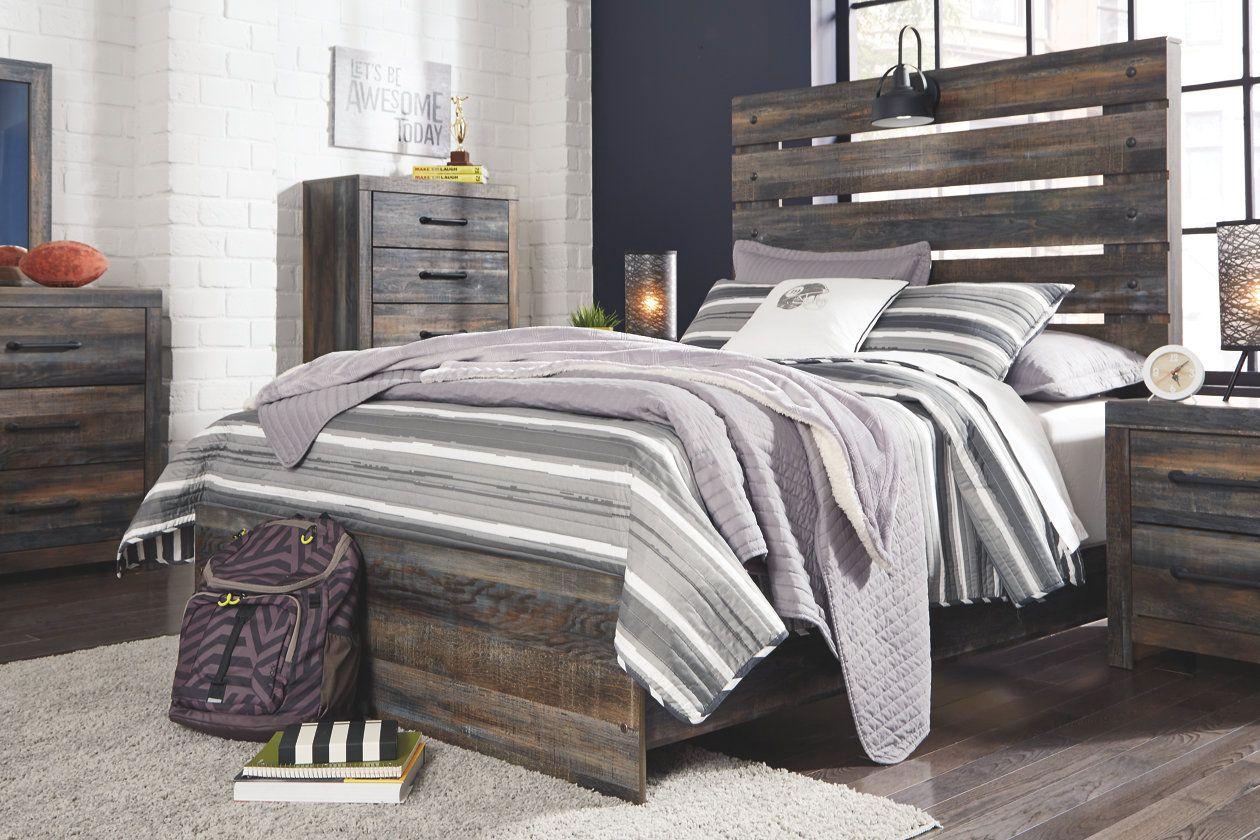 Drystan Queen Panel Bed Queen panel beds, Panel bed