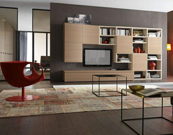 Meubles de salon - 96 idées pour l\'intérieur moderne en photos ...
