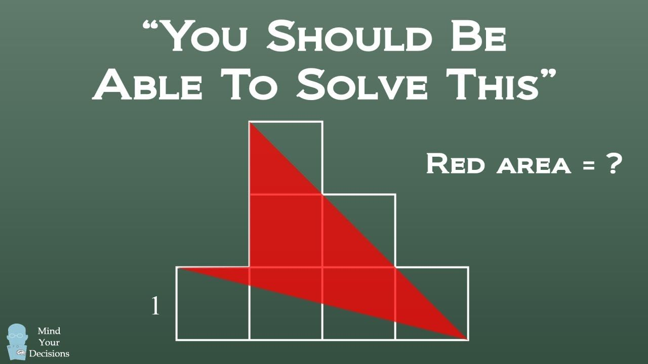 Solve For The Red Area Mental Math Tricks Solving Maths Puzzles