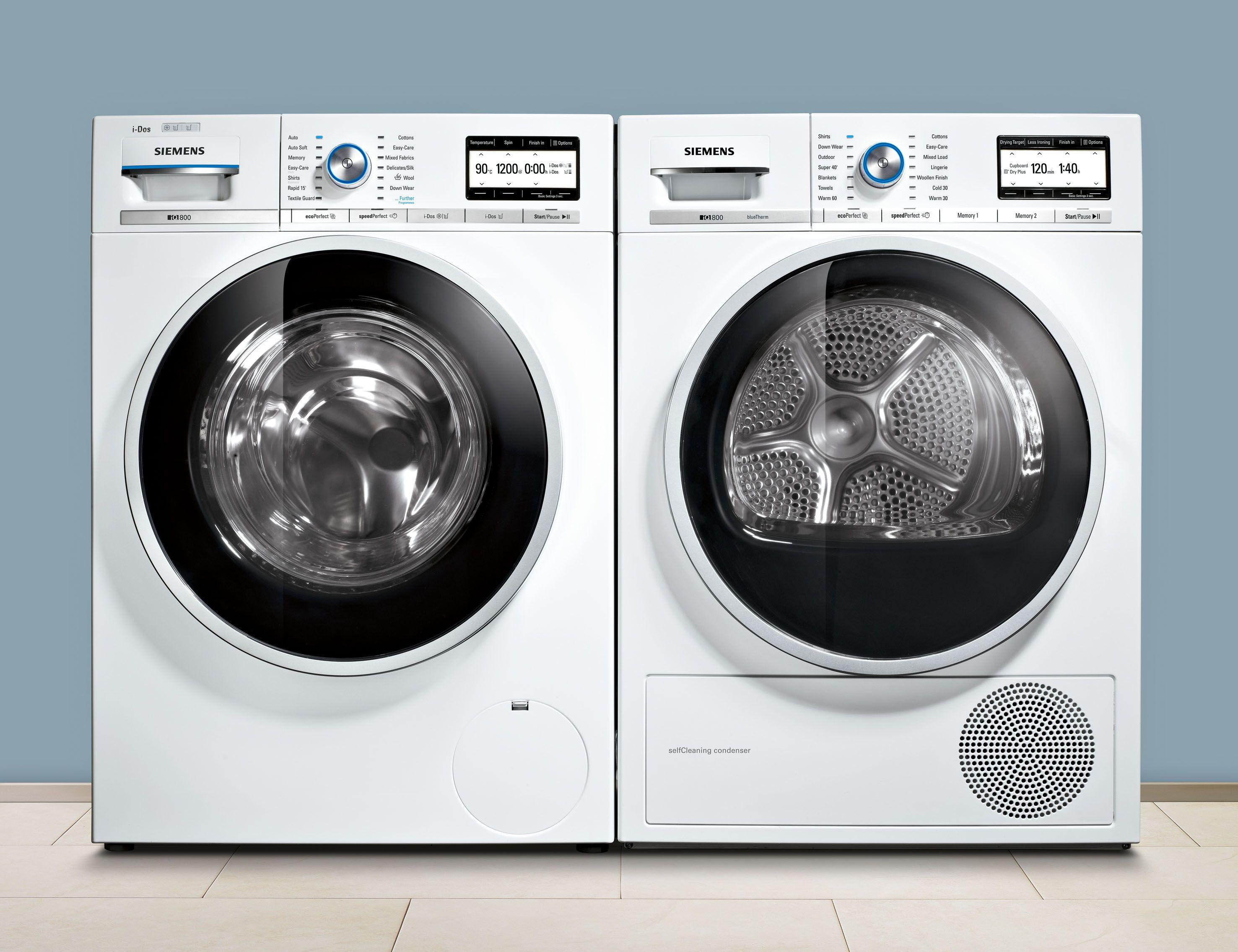 siemens iq800 masterclass washer dryer waschen und trocknen. Black Bedroom Furniture Sets. Home Design Ideas