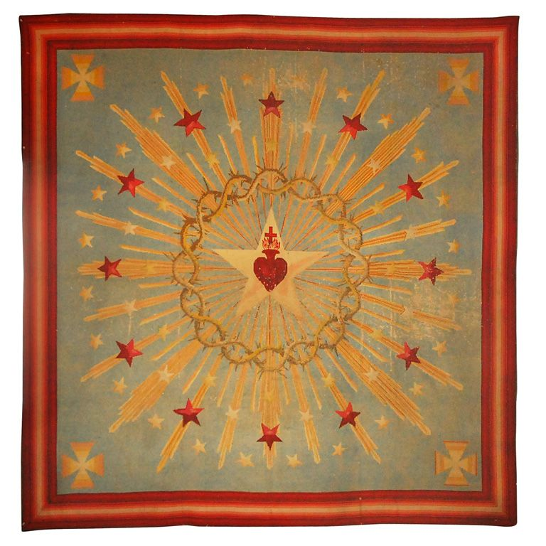 Substantial Sacred Heart Starburst Needlework