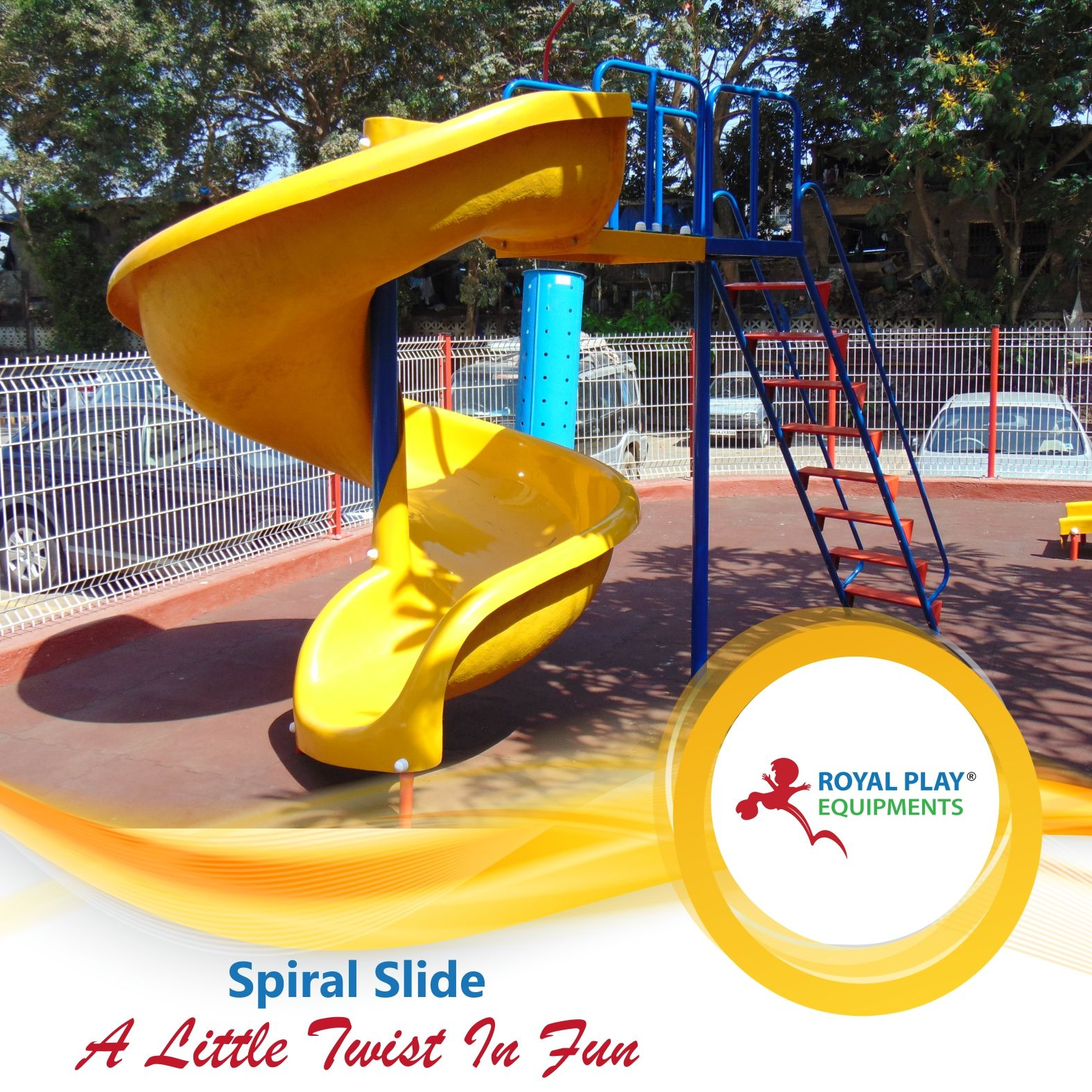 Royal play presents exciting spiral slides that