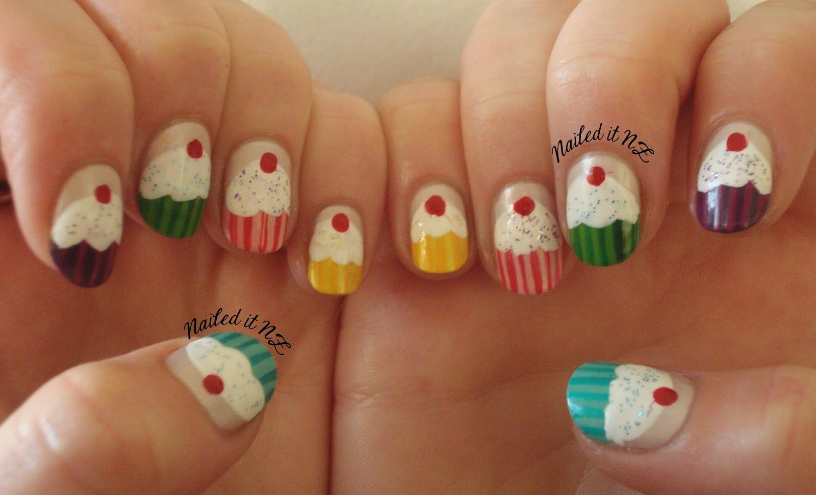 nail design ideas short nails | ... short-nails-cupcake-monarch ...