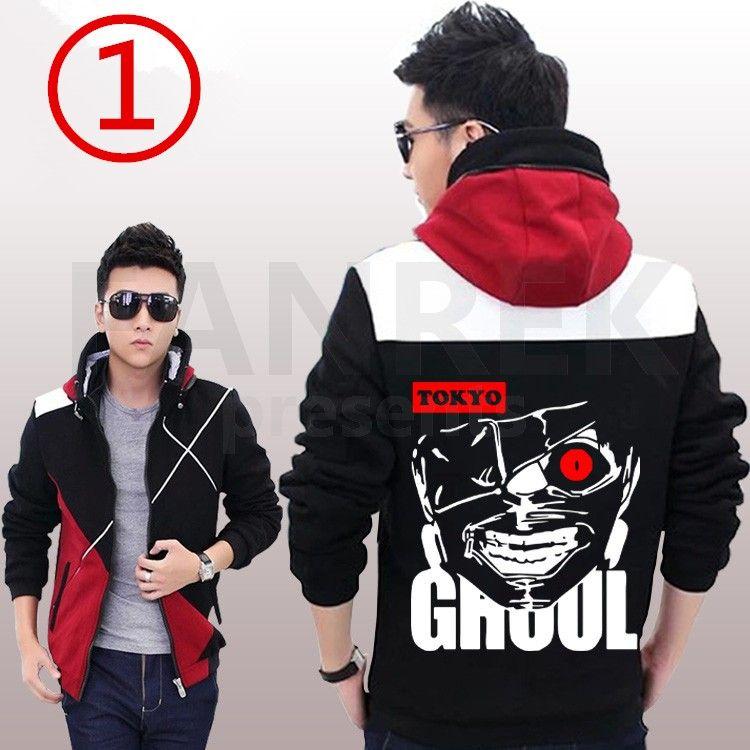 tokyo ghoul kaneki ken image logo zip up hoodies