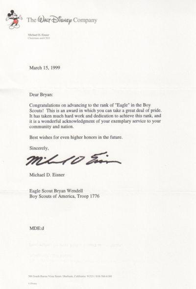 eagle scout parent letter of recommendation