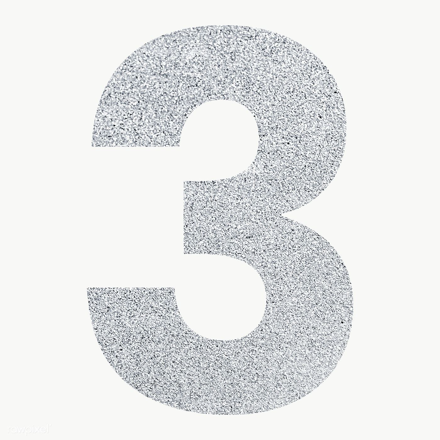 Glitter Metallic Number 3 Typography Transparent Png Free Image By Rawpixel Com Ningzk V In 2020 Typography Glitter Balloon Diy