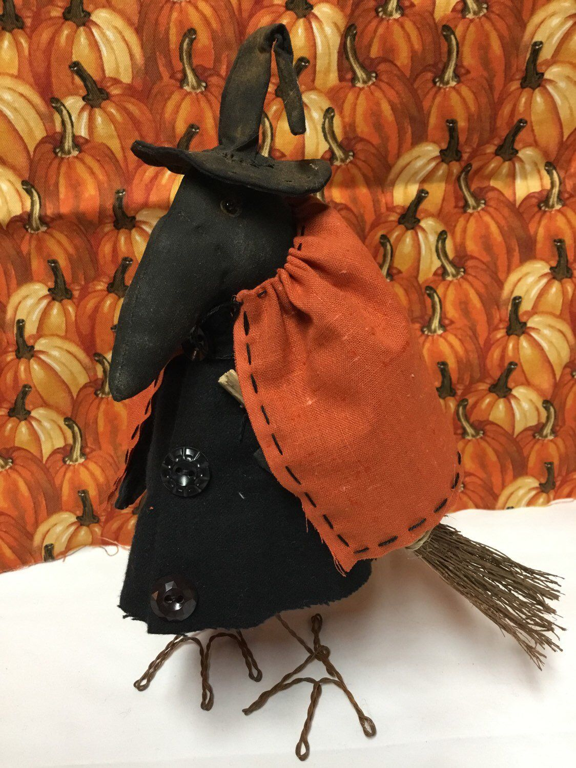 26155aa6 Excited to share this item from my #etsy shop: Primitive Halloween Witch  Lena Crow ready to ship #homedecor #halloween #giftforher #witch #Etsy # EtsyShop ...