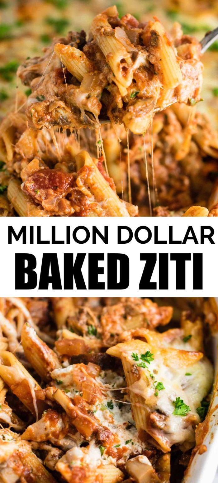 Meatless Million Dollar Baked Ziti Recipe - Build Your Bite