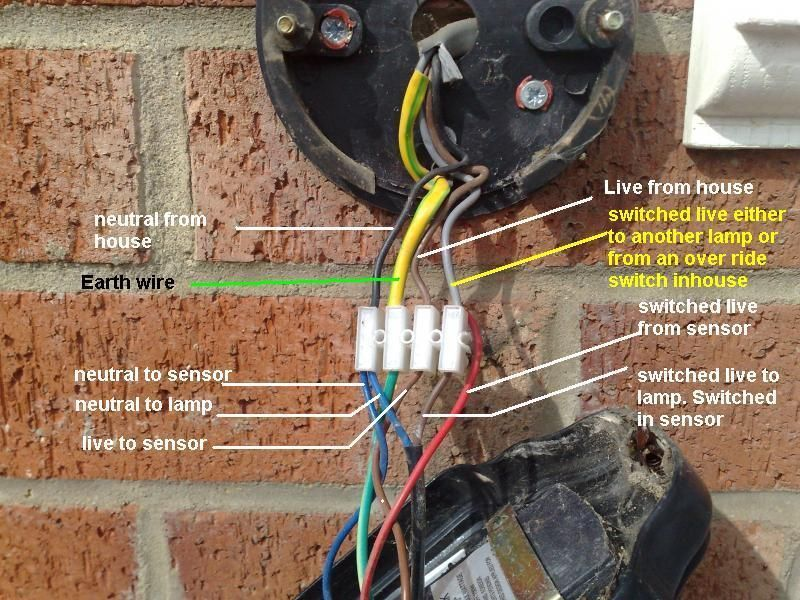 Wiring A Pir Sensor To An Outside Light Google Search Wire Switch Wire Light