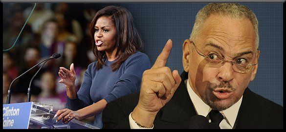 "Michelle Obama told a New Hampshire audience today she's ""never heard"" someone like Donald Trump. What a crock. Rush Limbaugh ..."