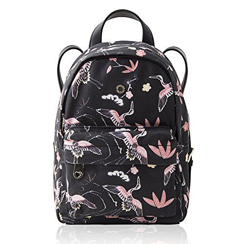 The Lovely Tote Co. Women s Cranes Print Mini Backpack  24520c09b2219