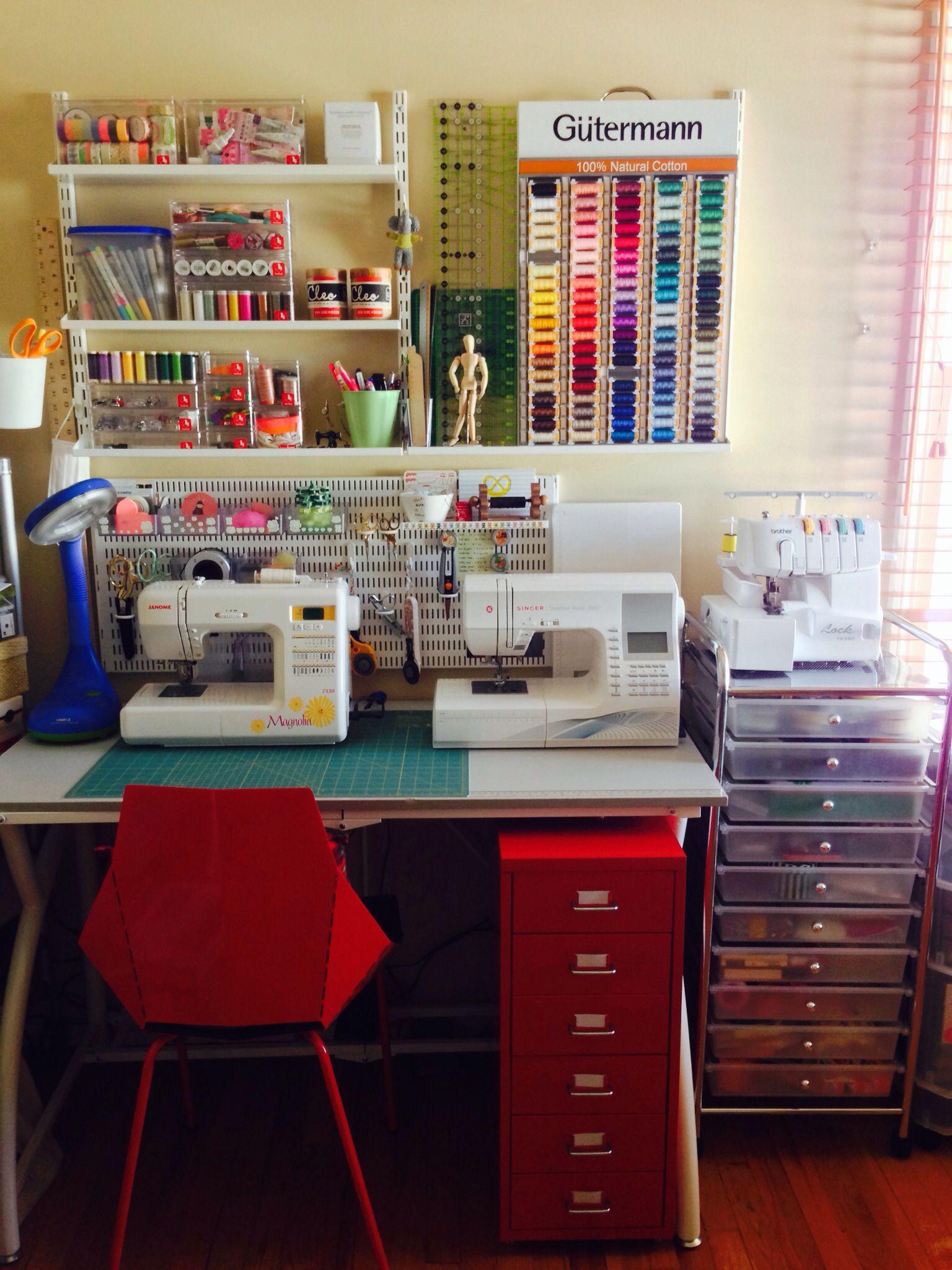 Craft Room Inspiration Salas De Costura Espacios Para Coser Diseno De Cuarto De Costura
