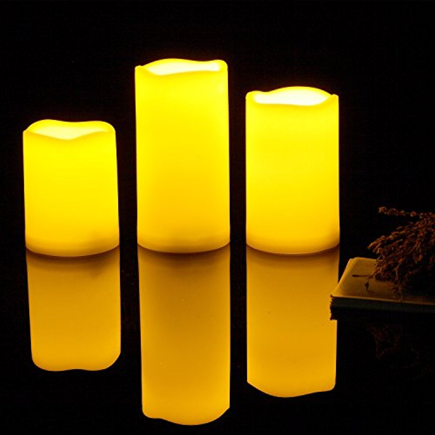 Outdoor Flameless Candles Entrancing 1 Set Of 3 Pcs Outdoor Flameless Candles With Timerweatherproof Design Inspiration