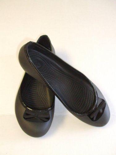 9a120f8b5 Ladies Size 8  Crocs Black Flats!Style Lily SALE  19.50 free ship  ebay
