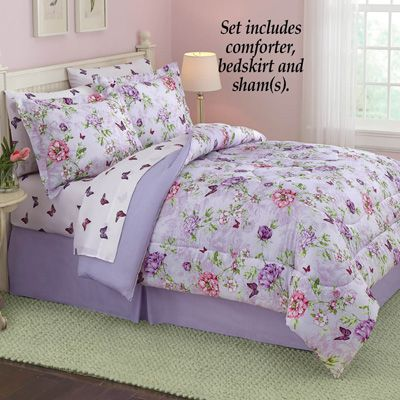 Floral Butterfly Garden Comforter Set With Images Comforter