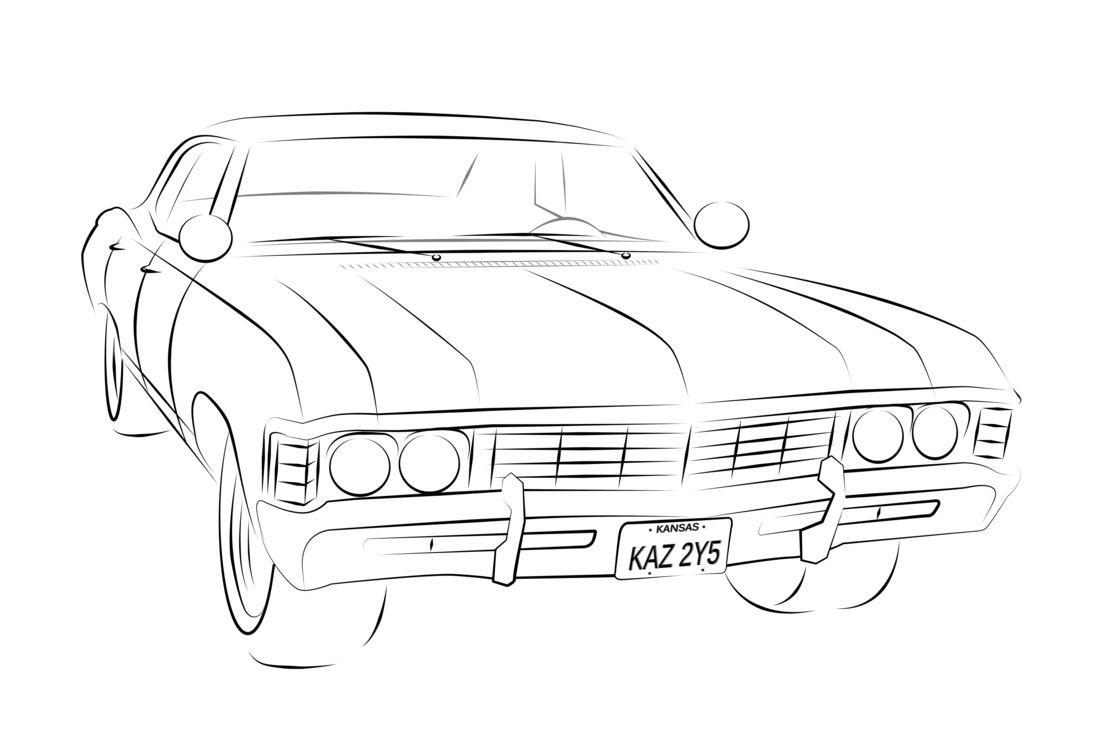 supernatural impala drawing