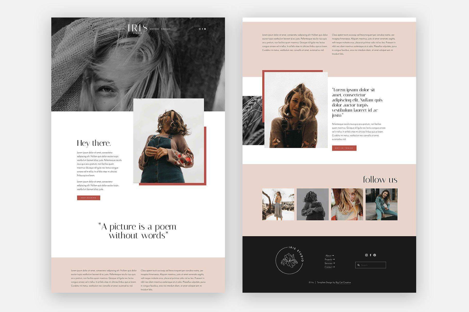 Squarespace Template Iris With Images Squarespace Templates
