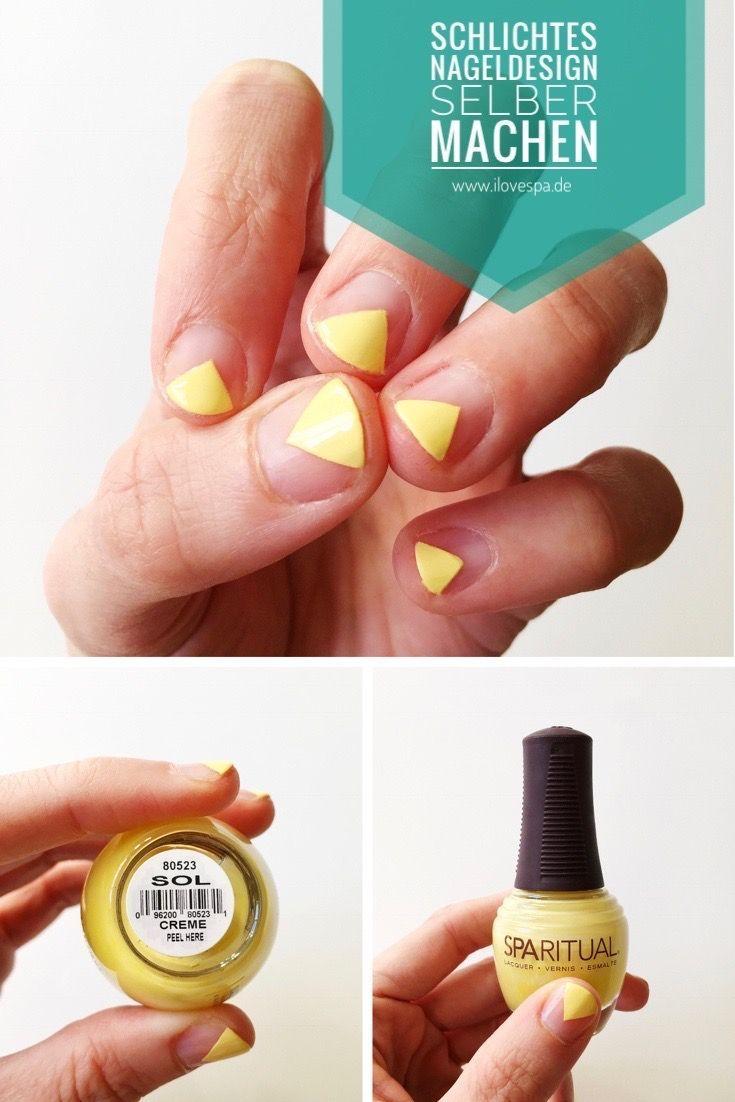 DIY Minimal Manicure gelb - Schlichtes Nageldesign für den Frühling ...