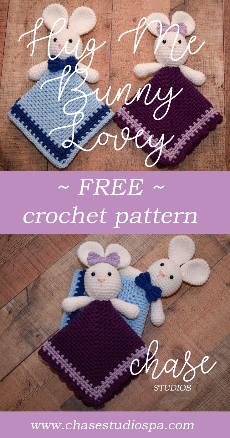 Hug Me Bunny Lovey Free Crochet Pattern Easter Boy Girl Kid Baby