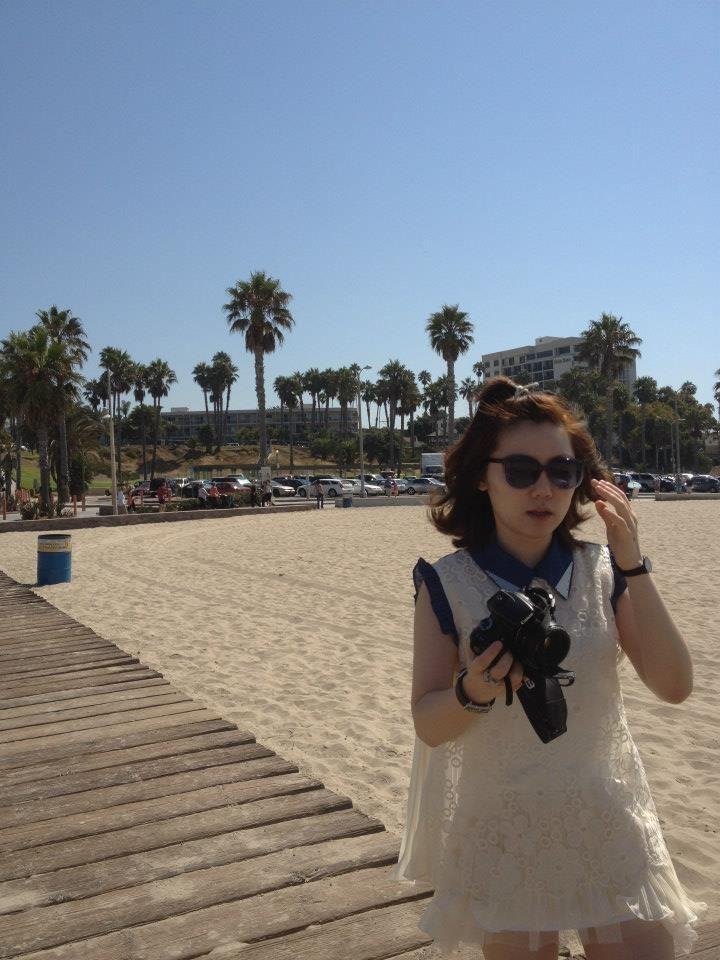 Aug 2012 #LA #Venicebeach #denimcollar #lacedress