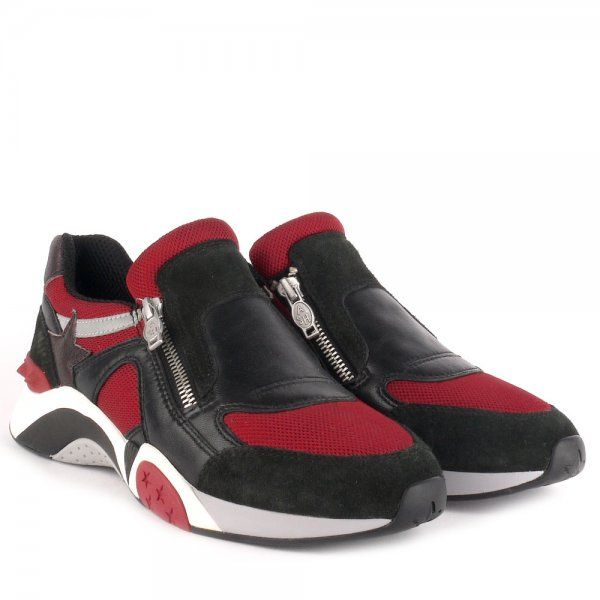Brag your new shoes! ASH HOP black and burgundy