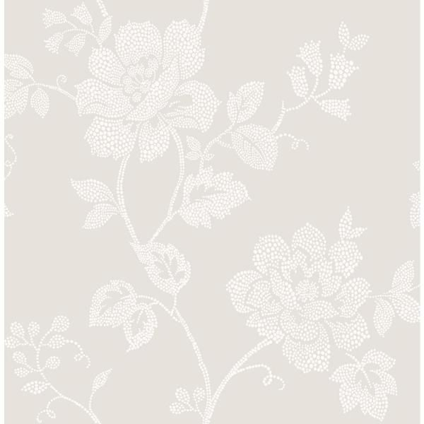 Fine Decor Leonardo Grey Floral Paper Strippable Roll (Covers 56.4 sq. ft.) 2900-41282 - The Home Depot