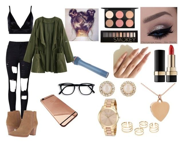 """""""blow your mind"""" by rochellepires22 on Polyvore featuring Boohoo, WithChic, MAC Cosmetics, Forever 21, Dolce&Gabbana, Jennifer Meyer Jewelry, Kate Spade, Michael Kors and Franco Sarto"""