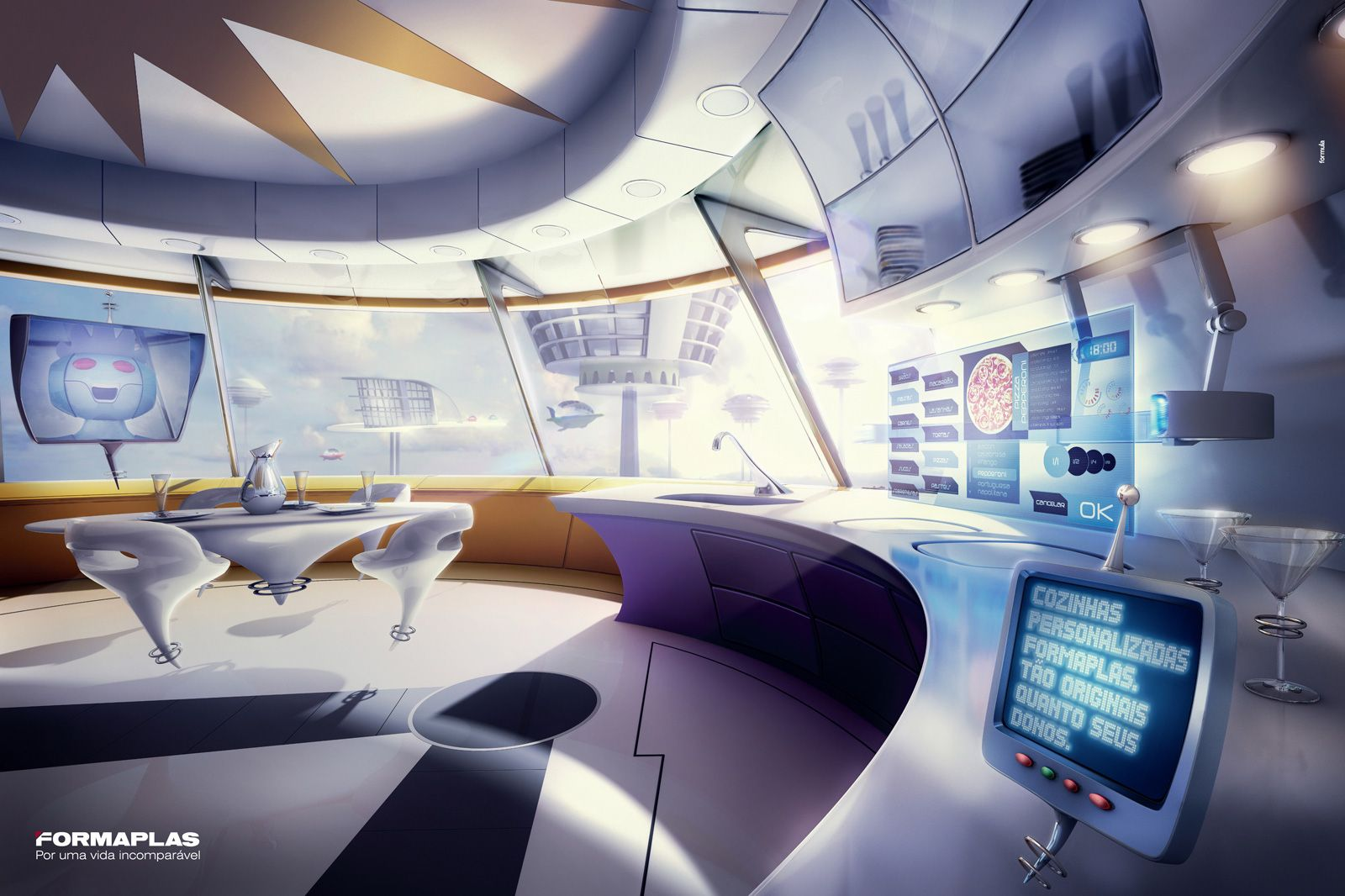 Futuristic Interior Future Cyberpunk The Jetsons