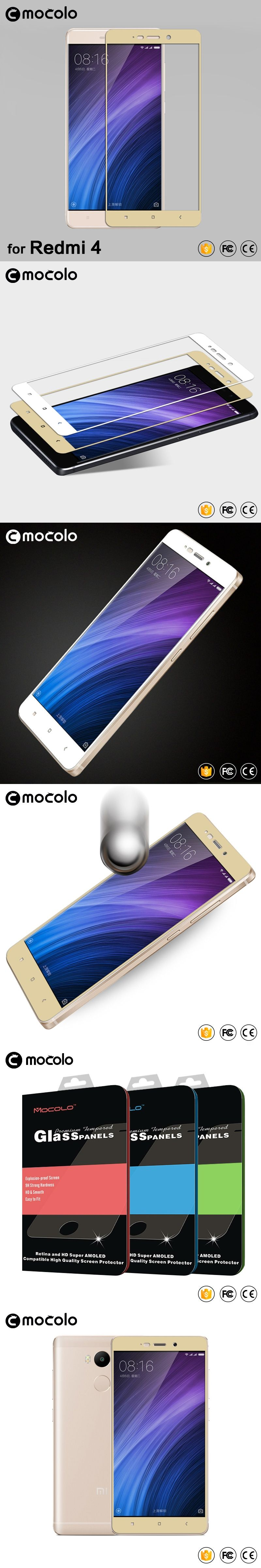 Mocolo xiaomi redmi 4 pro glass tempered 2 5D full cover tempered glass Xiaomi Redmi 4