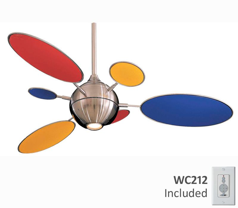 These colors would look great in a kids room design decor minka aire cirque brushed nickel ceiling fan with light wall control aloadofball Choice Image