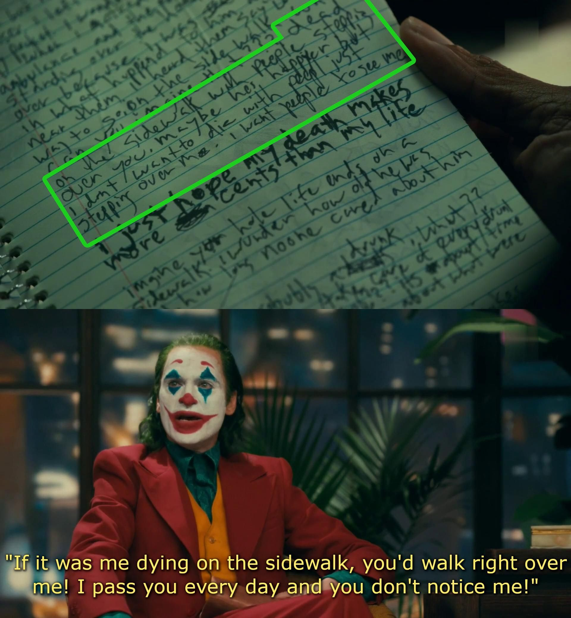 In joker 2019 the joke book contains a story about a