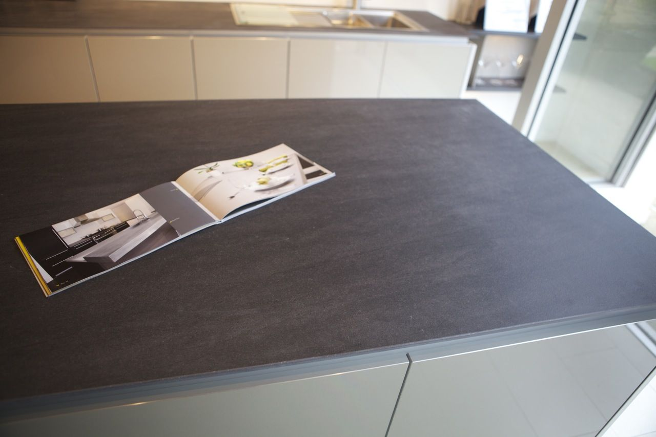 Charmant Neolith Basalt Grey Kitchen Countertop 5