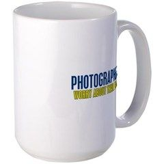Photographers Worry about their Image Mugs available at Kinnikinnick Arts