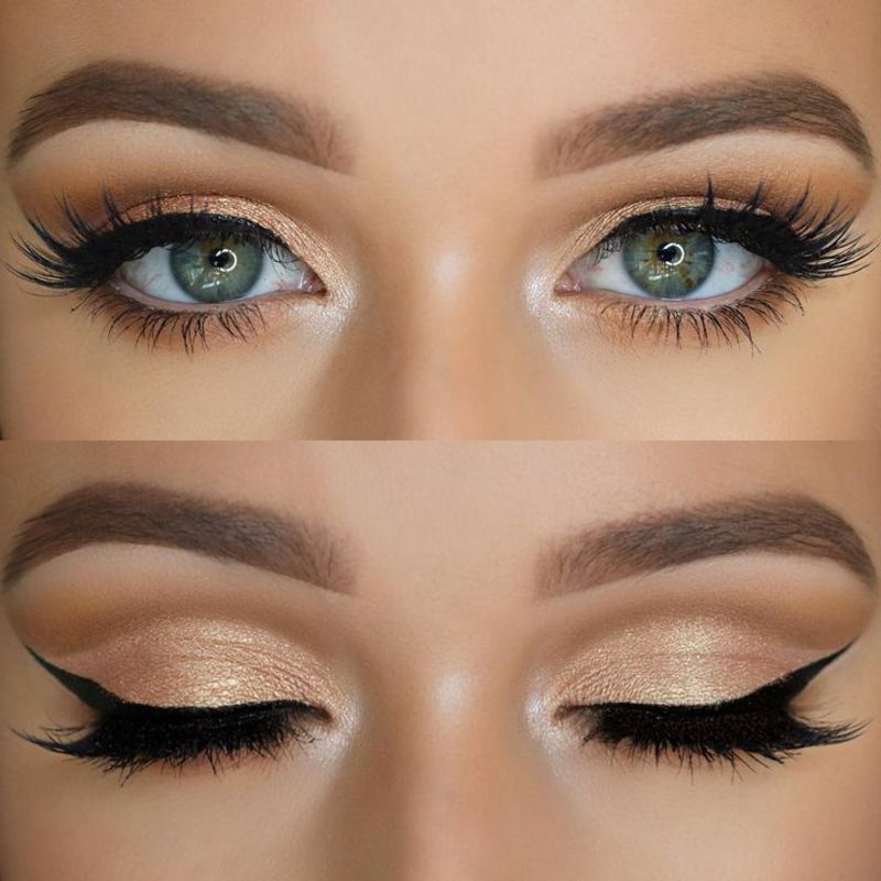 Blaue Augen Schminken Tages-Make-up