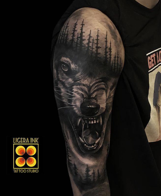 #tattoo #tattooideas #tattooart #tattooartist #realistic #realistictattoo #realismtattoo #tatuaggio #tatuaggi #wolftattoo #wolf
