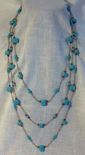 Turquoise Swarowski Crystals Necklace