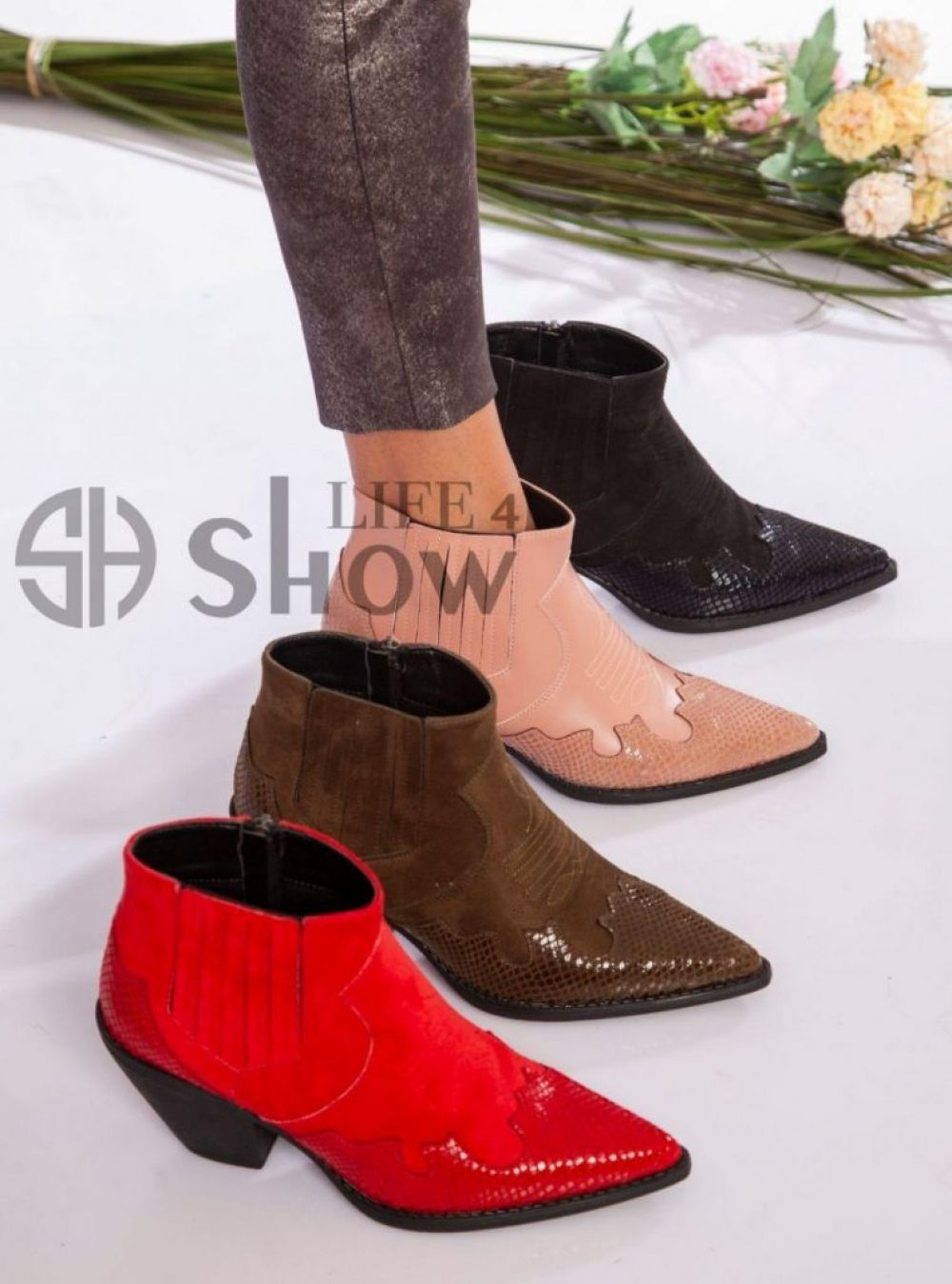Leather Booties for Women Western Style Pointed Toe ShowLife4 NEW 2021 ✨ Export Orders to the whole world ✨ For Export from Turkey to the whole world Click picture to view details of this product Follow Us and share this on your page #YeniExpo #madeinturkey 🇹🇷🇹🇷🇹🇷 #SupportTurkey