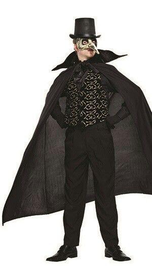 Mens Ladies Highwayman Masquerade Ball Pirate Carnival Fancy Dress Mask /& Hat