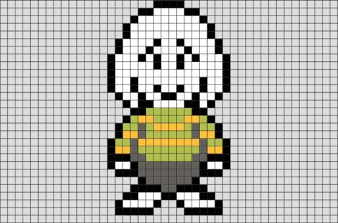 Undertale Asriel Pixel Art | Brik Pixel Art Designs